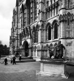 York Minster and Statue of  Roman Emporor Constantine The Great