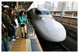 The 300 km/h Bullet train (Shinkansen)