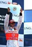 Hamilton's first ever podium. Melbourne, 07