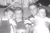 Willie & Betty Boyet's Children - Left to right - Diana, Kenneth, Bill, & Dorlia 1958
