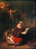 Femme berçant l'enfant ( Rembrandt)