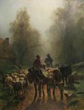 Départ au marché d'automne (Constant Trayon)