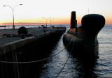 sous-marin à quai