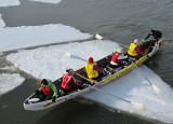 juchés sur la glace