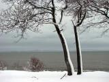couche de neige verticale