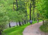 sentier de jogging