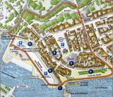 plan du vieux La Rochelle