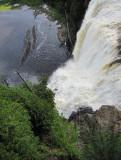plongée sur la chute Montmorency