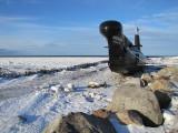 Un sous-marin en hiver