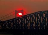 Coucher de soleil enfumé sur Québec, 30 mai 2010