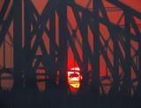 soleil brûlant sur le pont de Québec