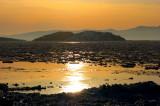 coucher de soleil sur les iles Pellerin