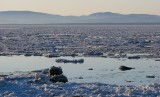 Marée haute sur le saint-Laurent glacé