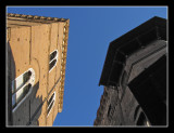 The narrow summer sky of Florence