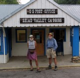 Handlebar and Doc in Seiad Valley -  PCT Thruhikers