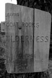 Leaving the Goat Rocks Wilderness