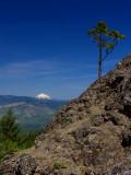 Mt McLoughlin from trailside viewpoint below Pilot Rock