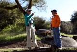 Impromptu trail discussion