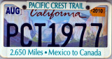 A thruhikers PCT1977 plate