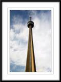 Toronto CN Tower taken from the street below.