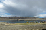Columbia River Bridge and Storm Clouds