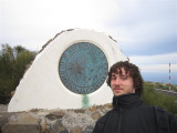 167 - Alex at the entrance to the solar telescopes on Tenerife
