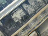 art vehicle covered in photos