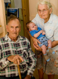Marcus with Nanna and Ray