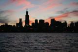 Skyline after sunset