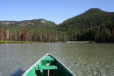 Canoe on Devil's Lake