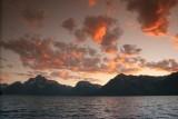 Grand Teton Range at sundown