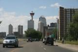 Approaching downtown Calgary