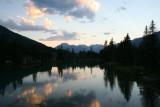 Bow River at sundown, Banff