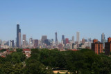 Chicago skyline from Cellular Field