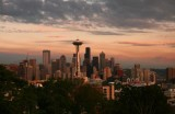 Seattle Skyline at sundown