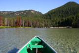 On a boat in Devil's Lake
