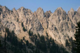 Close up view of Sawtooth Range