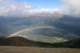 Above a rainbow, Mt Whistler