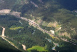 Freight train viewed from Mt Whistler