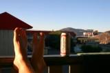 Feet up, having a beer in Kamloops