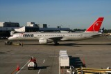 A Northwest Boeing 757 at Sea-Tac airport