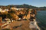 Nerja beach, view east