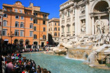 Trevi Fountain and crowds, Rome