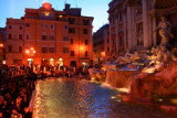 Trevi Fountain at twilight, Rome