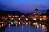 River Tiber and St Peters at twilight