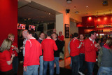 Wales supporters in a Cardiff pub