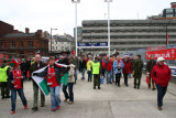 Supporters approaching Stadium, Cardiff