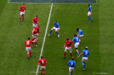 Wales attack Italian defence, Cardiff