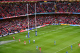 Lee Byrne scores try for Wales, Cardiff