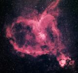 IC 1805 Heart Nebula in Cassiopeia: HA-HaR-G-B